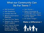 what our community can do for teens