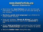 www dadsforkids org mission statements