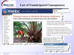 law of unanticipated consequences