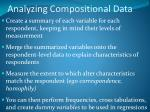 analyzing compositional data