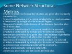 some network structural metrics
