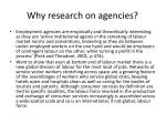 why research on agencies