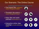our scenario the online course13
