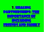 3 healing partnerships the importance of including friends and family