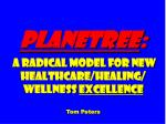 planetree a radical model for new healthcare healing wellness excellence tom peters