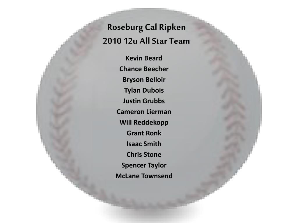 roseburg cal ripken 2010 12u all star team l.