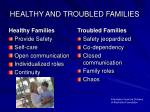 healthy and troubled families