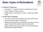 basic types of biofeedback