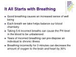 it all starts with breathing