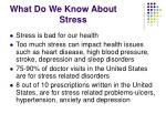 what do we know about stress