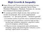 high growth inequality