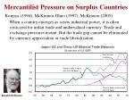 mercantilist pressure on surplus countries