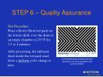 step 6 quality assurance29