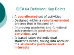 idea 04 definition key points