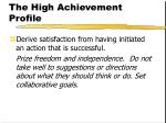 the high achievement profile32
