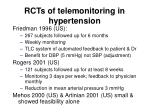 rcts of telemonitoring in hypertension