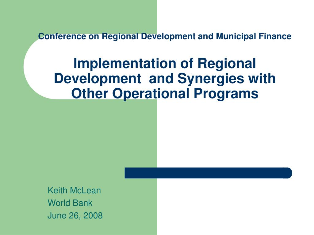 keith mclean world bank june 26 2008 l.