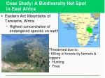 case study a biodiversity hot spot in east africa