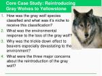 core case study reintroducing gray wolves to yellowstone