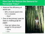 how can we reduce the demand for harvested trees