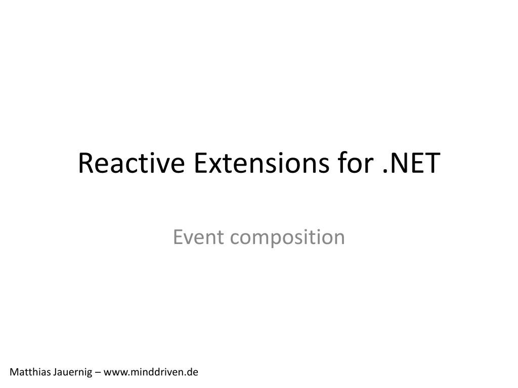 reactive extensions for net l.