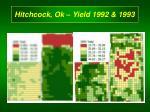 hitchcock ok yield 1992 1993