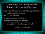 conclusions use of multimedia to enhance the learning experience