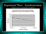 experiment three synchronization collapsed across alignment condition