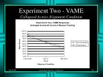 experiment two vame collapsed across alignment condition