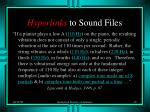hyperlinks to sound files