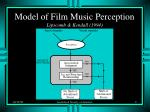 model of film music perception lipscomb kendall 1994