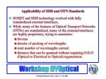 applicability of sdh and otn standards