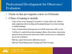 professional development for observers evaluators