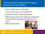 professional development for teachers related to the new rubric
