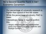 nc s second quartile rank in s t economic dynamism