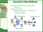 interactive video multicast