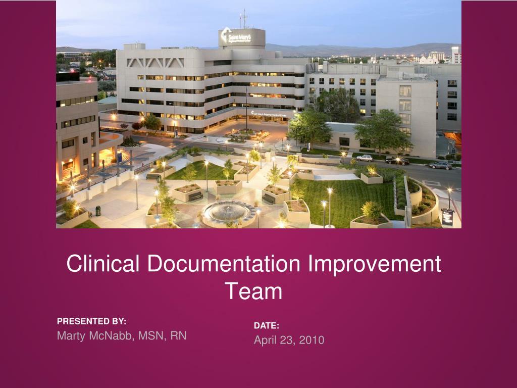 clinical documentation improvement team l.