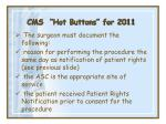 cms hot buttons for 201131