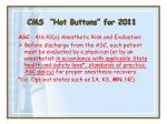 cms hot buttons for 201133