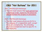 cms hot buttons for 201138