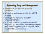 governing body and management