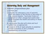 governing body and management9
