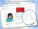 demo how to download a template from microsoft office online