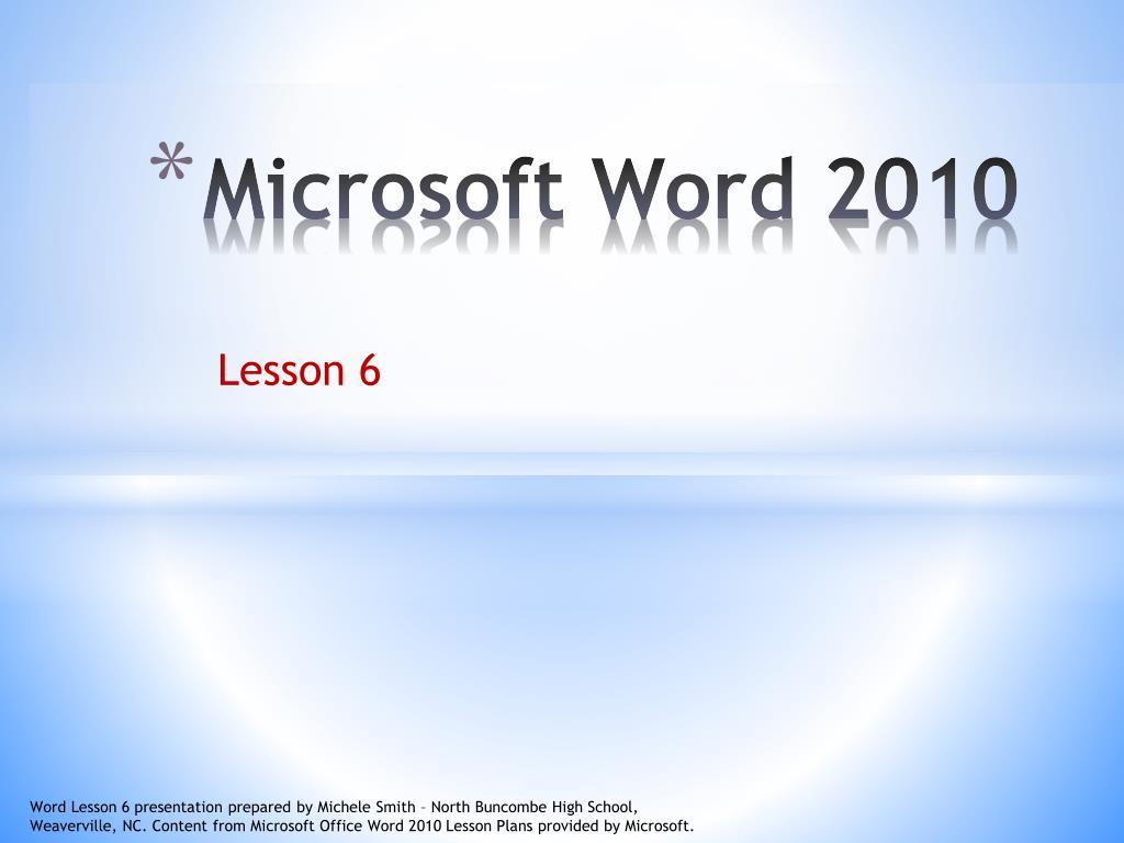 microsoft word 2010 l.