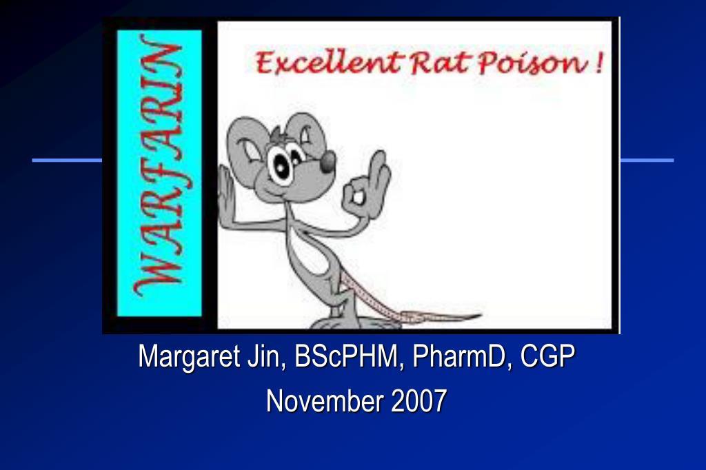 margaret jin bscphm pharmd cgp november 2007 l.