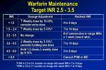 warfarin maintenance target inr 2 5 3 5
