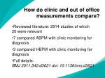 how do clinic and out of office measurements compare