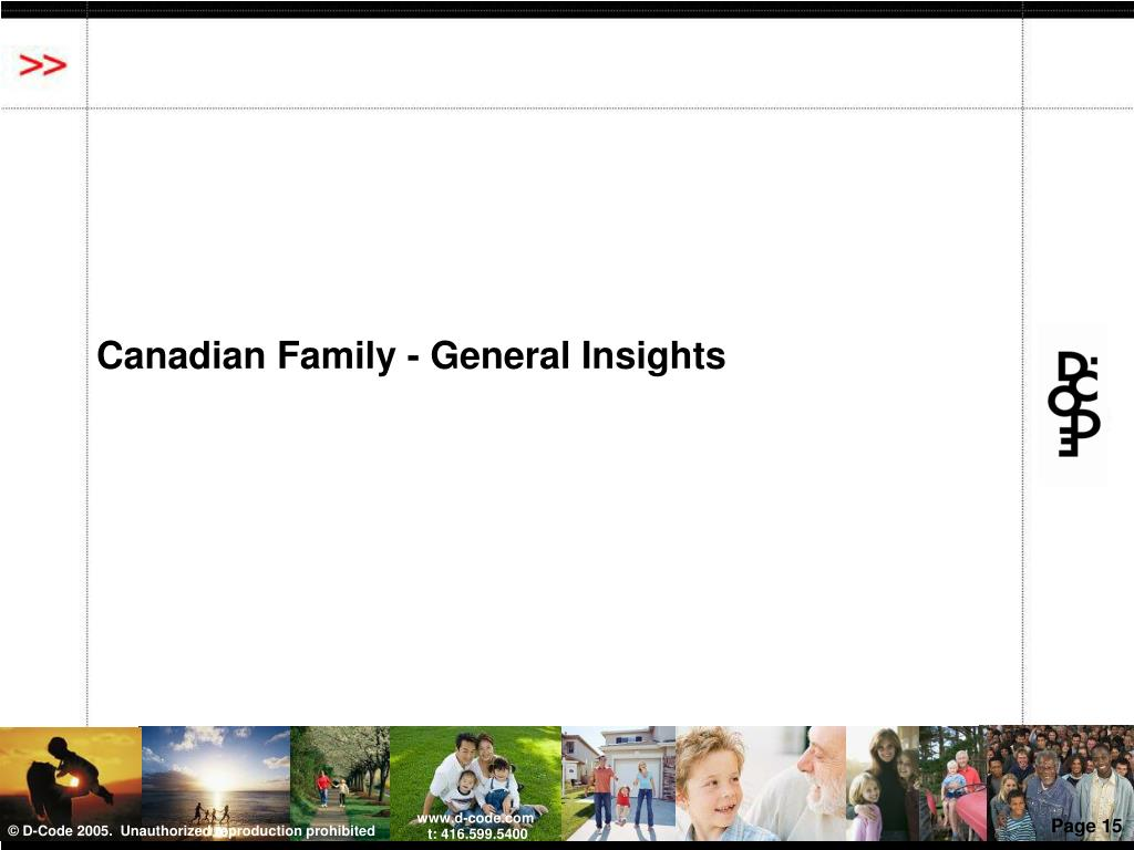 Canadian Family - General Insights