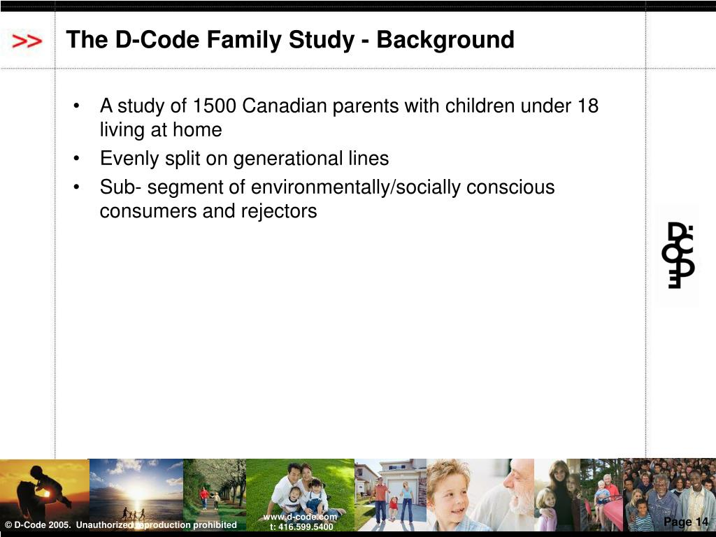 The D-Code Family Study - Background