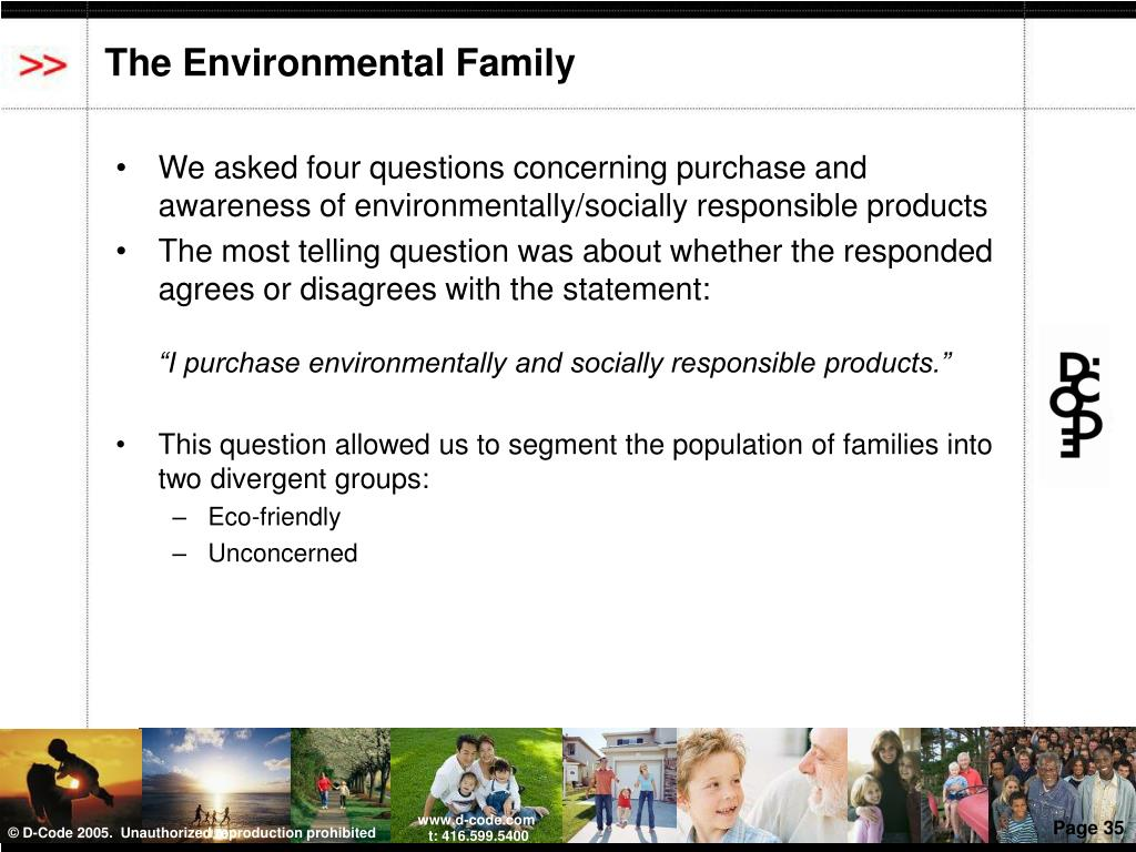 The Environmental Family